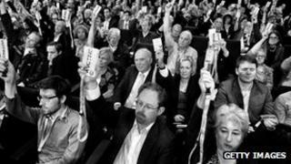 delegates at Lib Dem conference