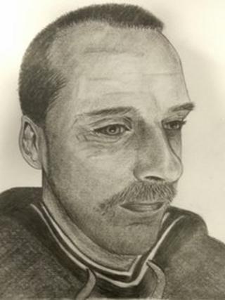 Artist's impression of man found near Kyleakin