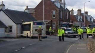 Bus crash scene