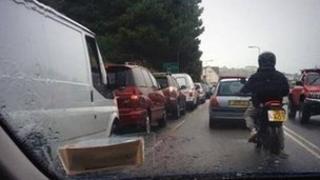Traffic congestion in Jersey
