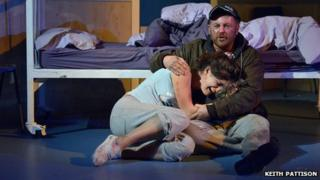 Eva Quinn and Joe Caffrey in Wet House by Paddy Campbell