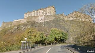 Edinburgh Castle rocks
