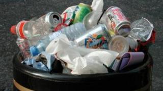 Rubbish in a bin - generic