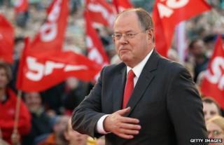 Peer Steinbrueck at a rally in Berlin, 16 September