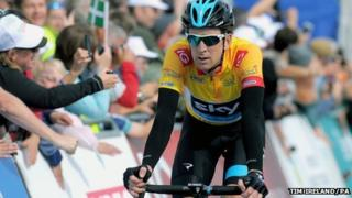 Sir Bradley Wiggins during stage six of the Tour of Britain on 20 September