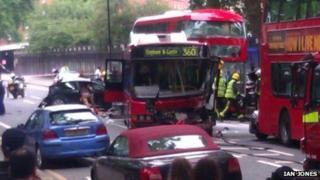 Collision on Chelsea Bridge Road