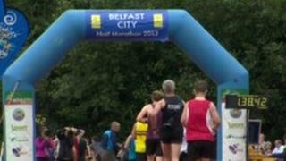Four thousand people took part in Belfast's first half marathon