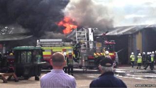Fire at JBJ Business Park near Northampton