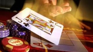 Generic picture of casino chips and playing cards