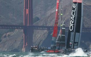 Team New Zealand and Oracle neck and neck