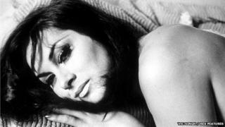 April Ashley modelling in London 1964