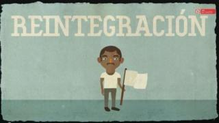 A screenshot from an ACR video explaining the government's reintegration programme