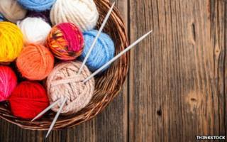Generic image of knitting needles in wool