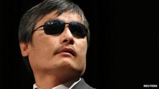 Chen Guangcheng in New York on 3 May 2013