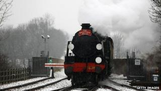 The Grinsteade Belle arrives at East Grinstead Station for the first time on March 23, 2013