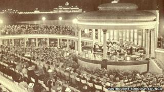 Concert at Eastbourne's new bandstand in 1935