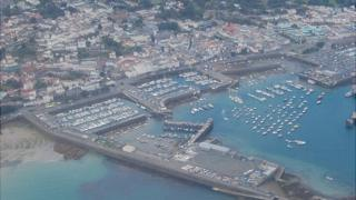 St Peter Port town and harbour