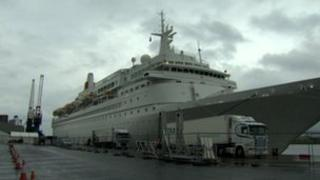 The Boudicca arrived back in Belfast in the early hours of Thursday morning