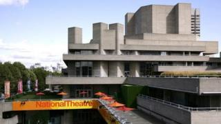 The National Theatre on the South Bank of London