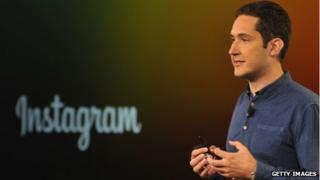 Kevin Systrom and instagram logo