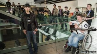 Young musicians at the Colston Hall