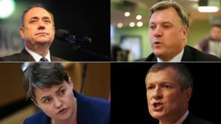 Alex Salmond, Ed Balls, Ruth Davidson and Willie Rennie