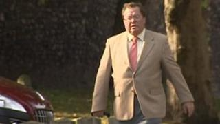 Mike Souter arriving at Norwich Crown Court