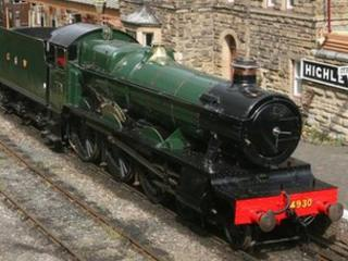 Hagley Hall locomotive