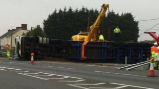 lorry crash A12