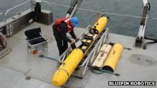 Bluefin autonomous underwater vehicle