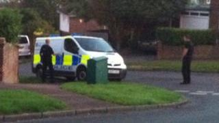 Thames Valley Police officers preparing for drugs raids