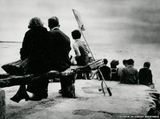 Jewish refugees after arrival in Sweden