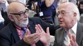 Peter Higgs and Francois Englert