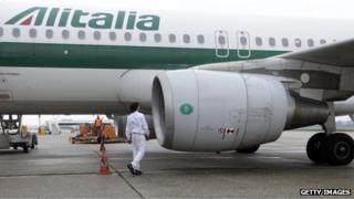 Alitalia jet