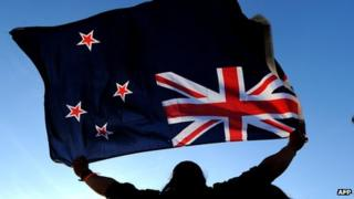 File image of a man waving the New Zealand flag