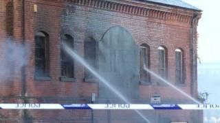 Derby fire scene