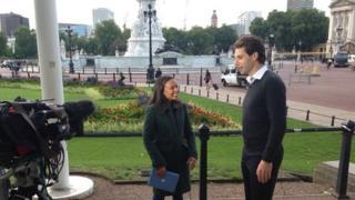 Mark Beaumont interviewed by BBC Newsround