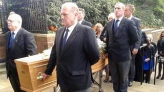 Funeral for Peter Broadbent