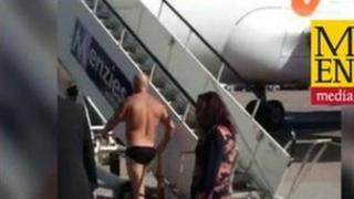 Naked man at Manchester Airport