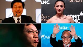 Clockwise from top left: Lee Kai-fu, Yao Chen, Pan Shiyi and Ren Zhiqiang