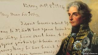 Nelson's letter and portrait