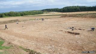View of excavation site at Potgate Quarry
