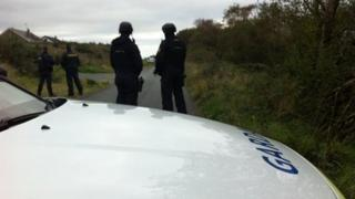 The police operation near Burnfoot ended in the early hours of Saturday