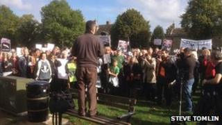 Witney Badger cull protest
