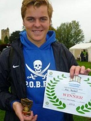 Alex Marshall world pooh sticks winner 2013