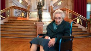 Mary Millar celebrated her 106th birthday in Titanic Belfast