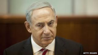 Israeli Prime Minister Benjamin Netanyahu in Jerusalem on 13 October 2013