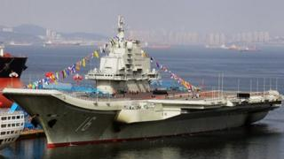 China's only aircraft carrier Varyag