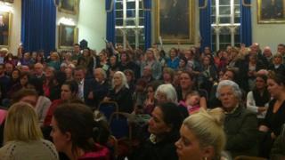 Banbury Town Hall public cuts meeting