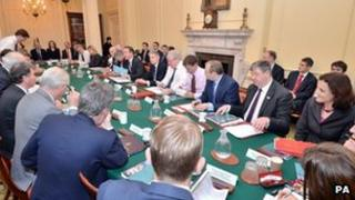 Cabinet meeting on Tuesday